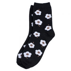 Socks Sixties Flower Made With Cotton & Spandex by JOE COOL