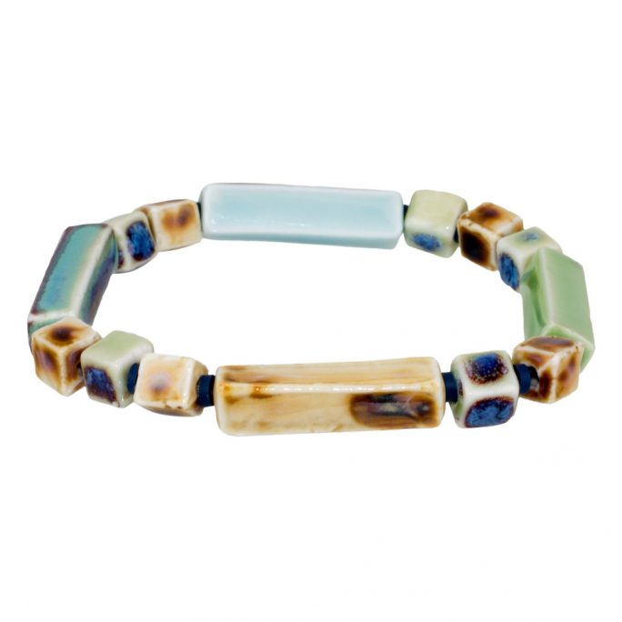 Bracelet Sienna Earth Tones Made With Ceramic by JOE COOL