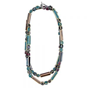 Necklace Sienna Earth Tones Made With Ceramic by JOE COOL