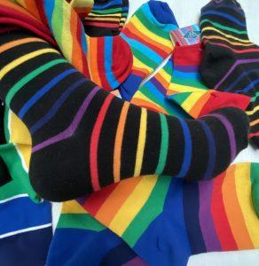 Rainbow socks will give you a kick!