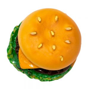 Clutch Pin Brooch Cafe Cool Burger Made With Resin by JOE COOL