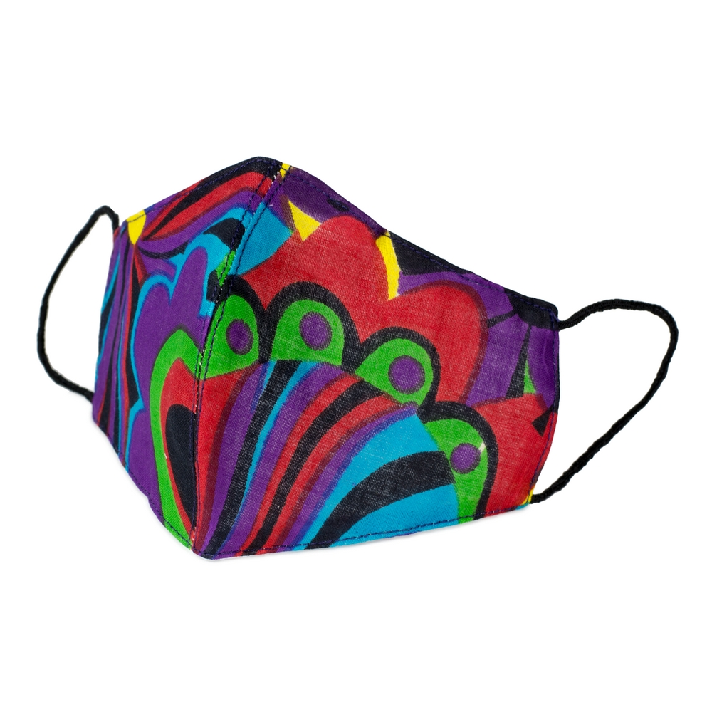 Face Mask 60s Print Made With Cotton by JOE COOL