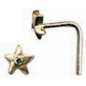 Nose Stud Star Made With Gold 9ct & Diamond by JOE COOL