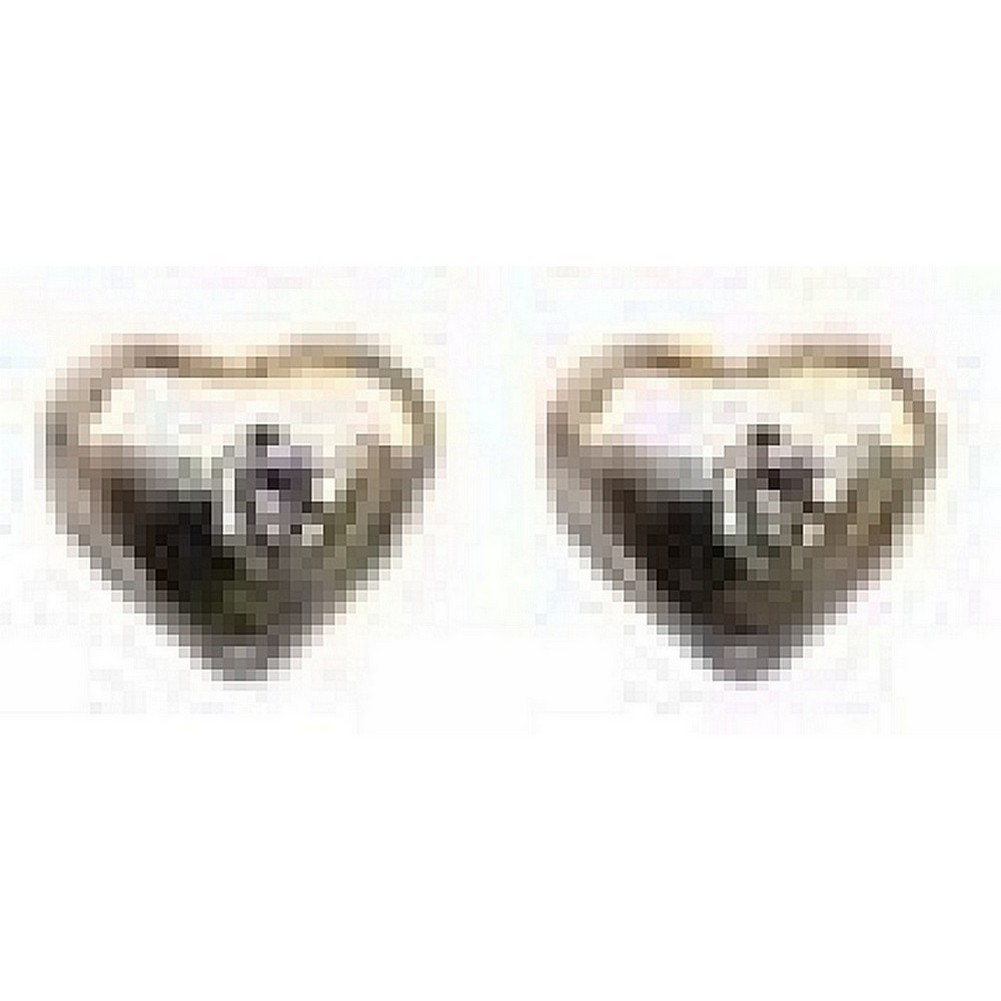 Stud Earring Heart Made With 925 Silver & Diamond by JOE COOL