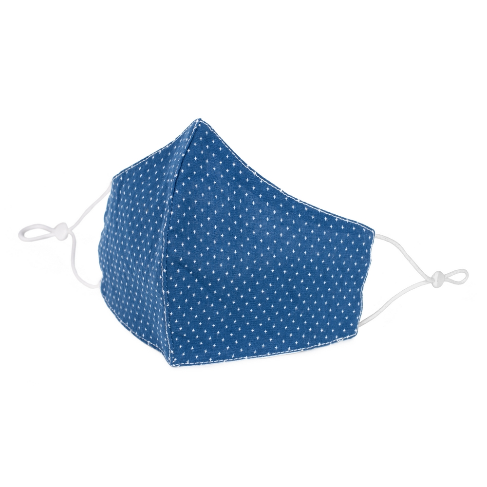 Face Mask Denim Star Polka Made With Cotton by JOE COOL