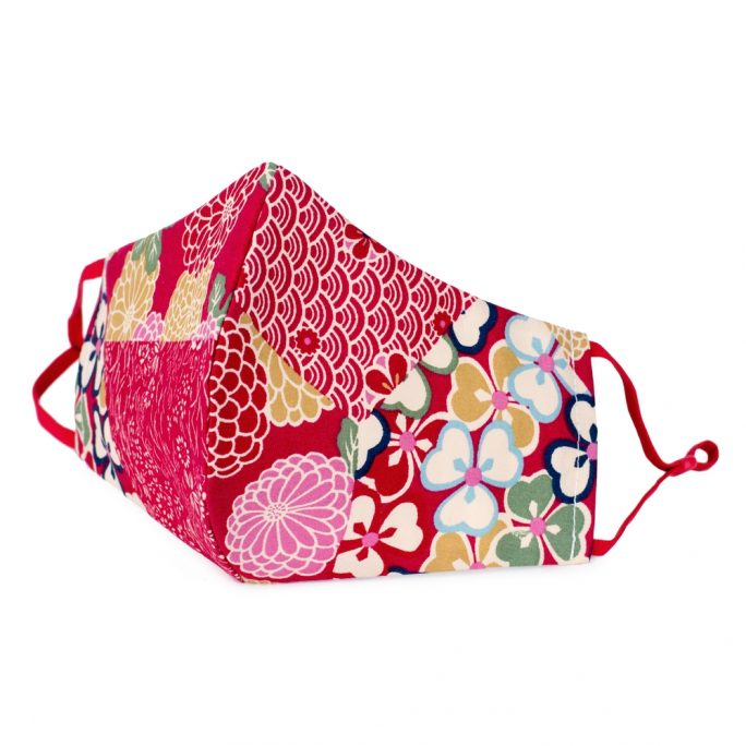 Face Mask Kimono Patchwork Print Made With Cotton by JOE COOL