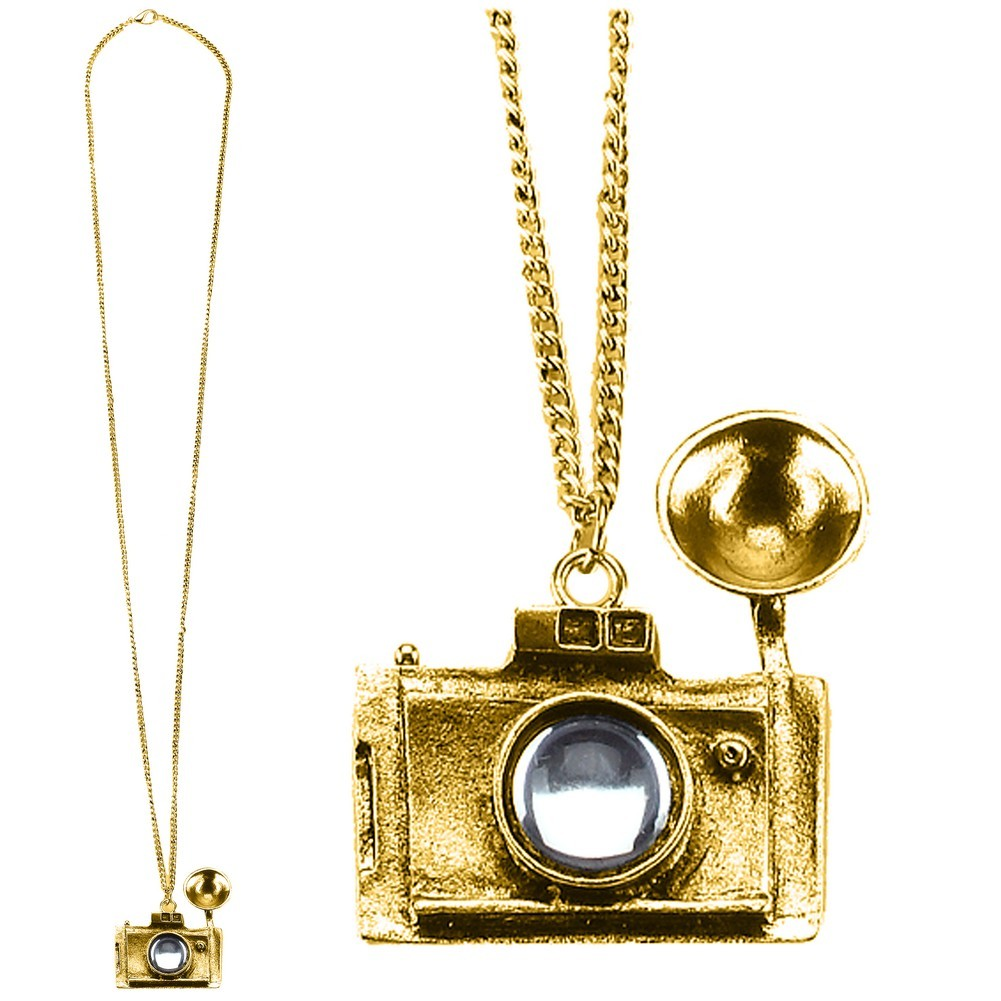 Necklace With A Pendant Chain With Camera Made With Zinc Alloy & Glass by JOE COOL