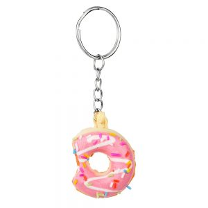 Keyring Iced Doughnut Less One Bite 45mm Made With Pvc by JOE COOL
