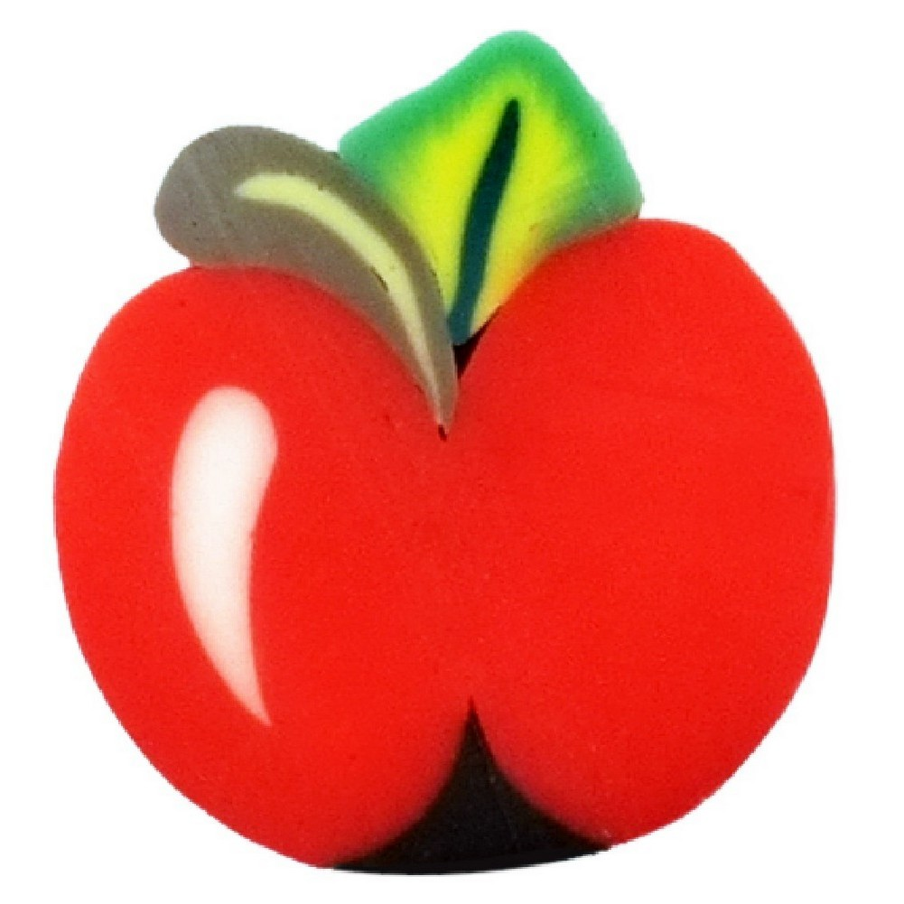 Stud Earring Tutti Frutti Slices Apple Made With Resin by JOE COOL