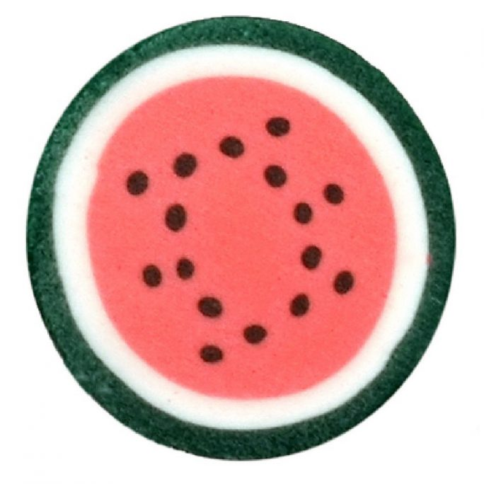 Stud Earring Tutti Frutti Slices Watermelon Made With Resin by JOE COOL