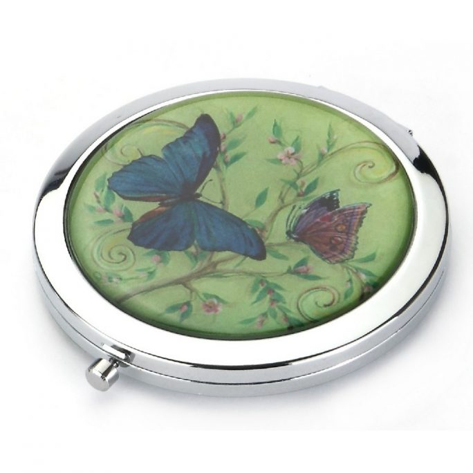 Compact Mirror Butterfly Made With Glass & Aluminium by JOE COOL