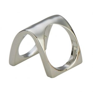 Ring Square Double Made With Tin Alloy by JOE COOL