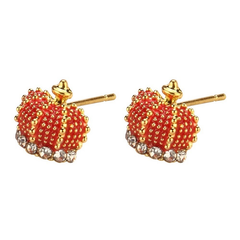 Stud Earring Crown Made With Enamel & Tin Alloy by JOE COOL