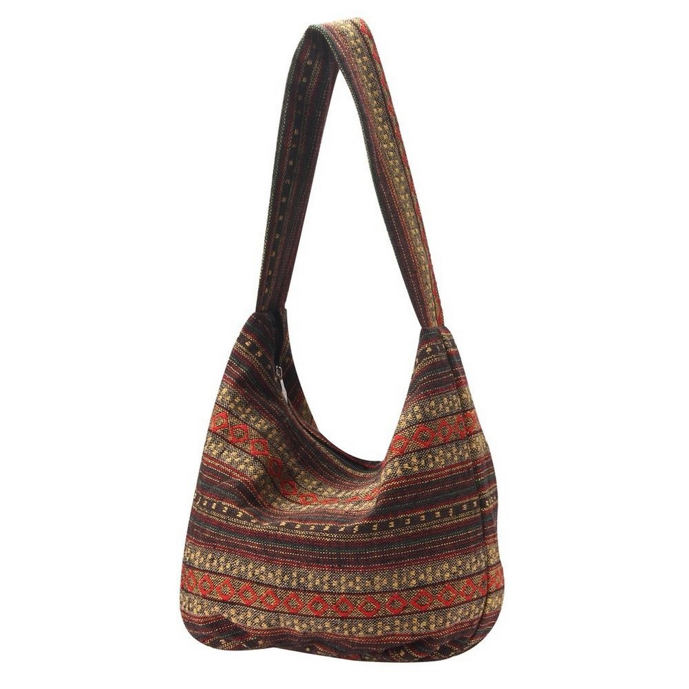 Shoulder Bag Semi Scoop Salamanca Stripe Made With Cotton by JOE COOL