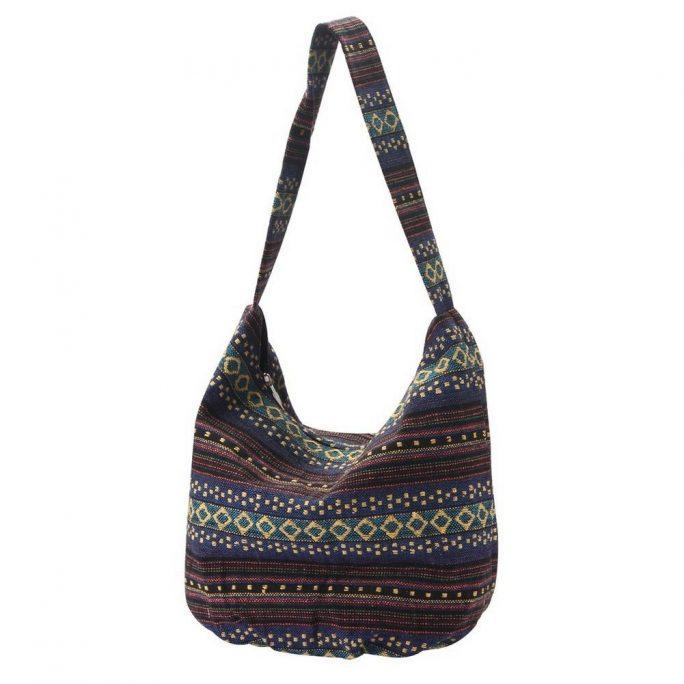Shoulder Bag Semi Scoop Salamanca Stripe Made With Cotton by JOE COOL