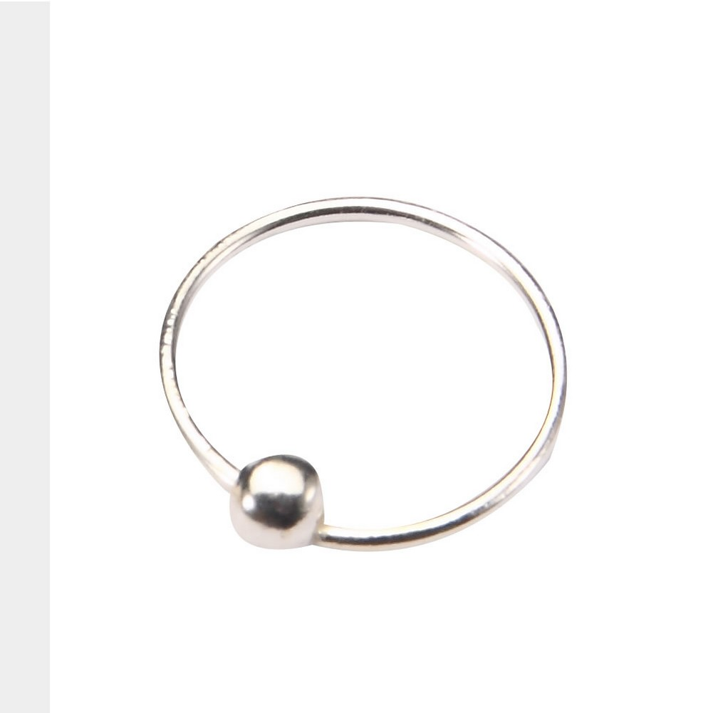 Nose Hoop & Vermeil Plain With Ball Made With 925 Silver by JOE COOL