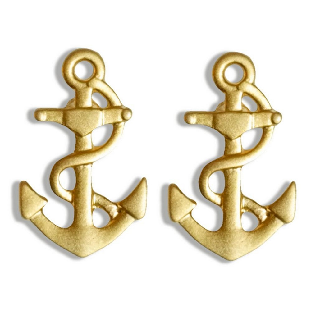 Stud Earring Travelogue Matte Anchor by JOE COOL