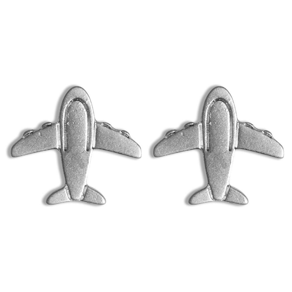 Stud Earring Travelogue Matte Aeroplane by JOE COOL