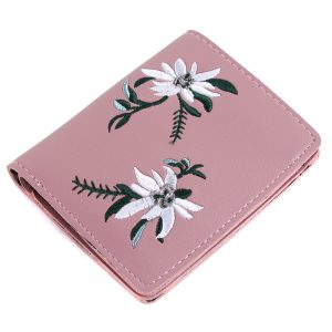 Folding Wallet Pastel Flower Made With Pu by JOE COOL