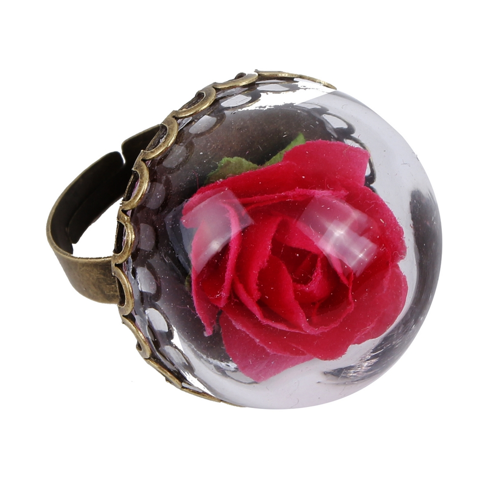 Ring Rose Dome Made With Glass & Iron by JOE COOL