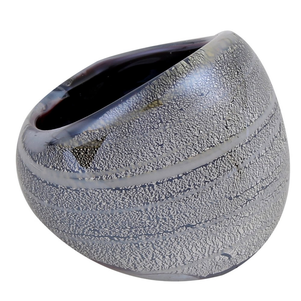 Ring Metallic Swirl Made With Glass by JOE COOL