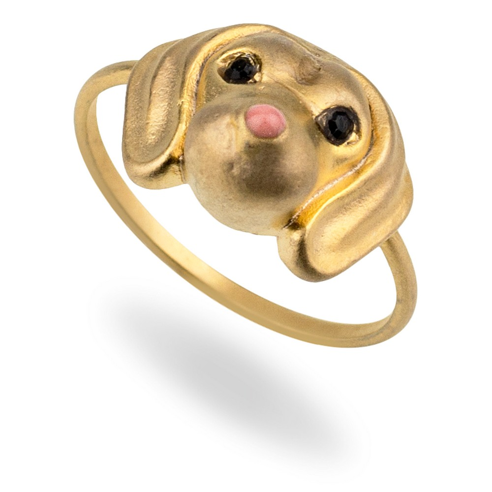 Ring Canine Companion Dog Dachshund Made With Tin Alloy by JOE COOL