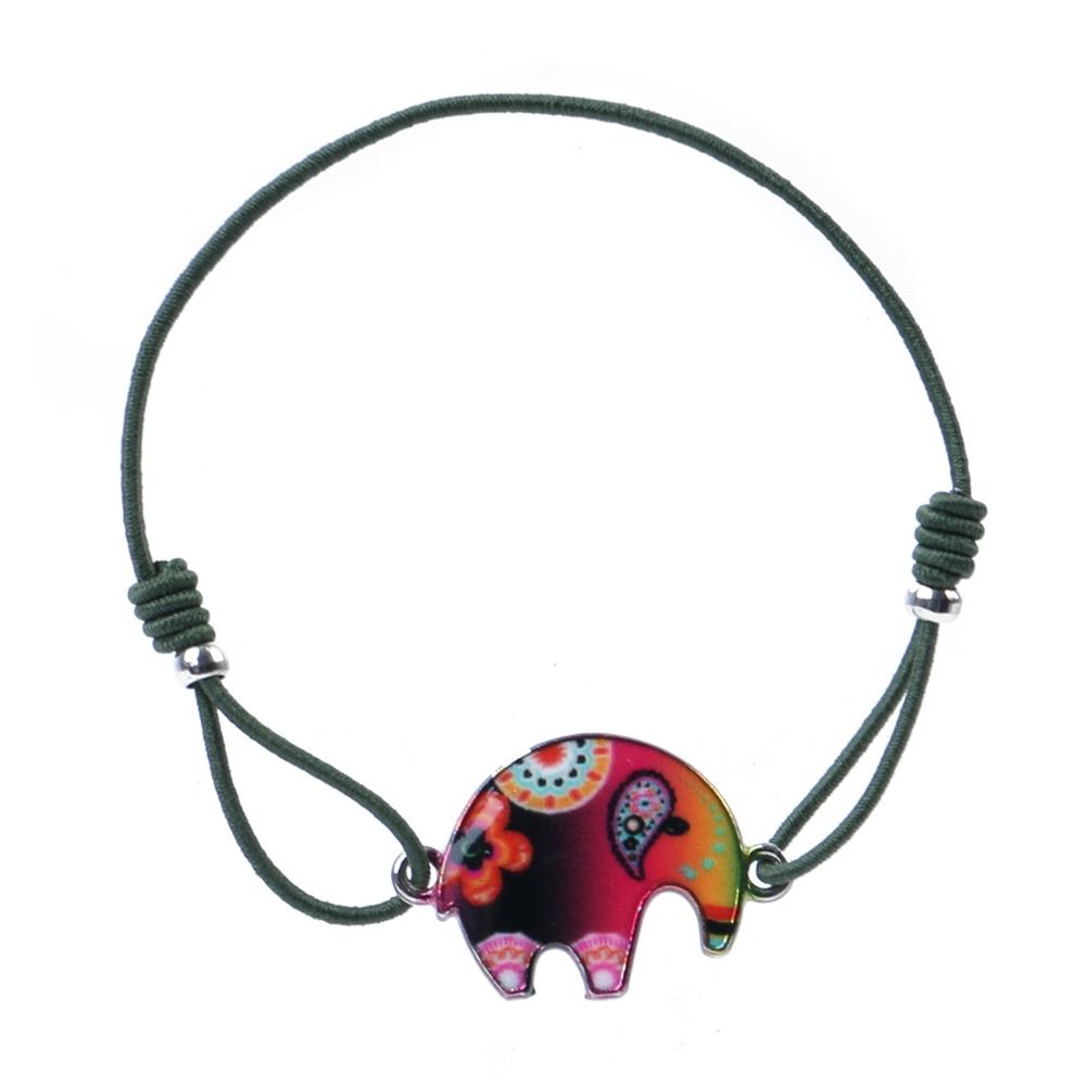 Bracelet Elephant Made With Tin Alloy & Enamel by JOE COOL