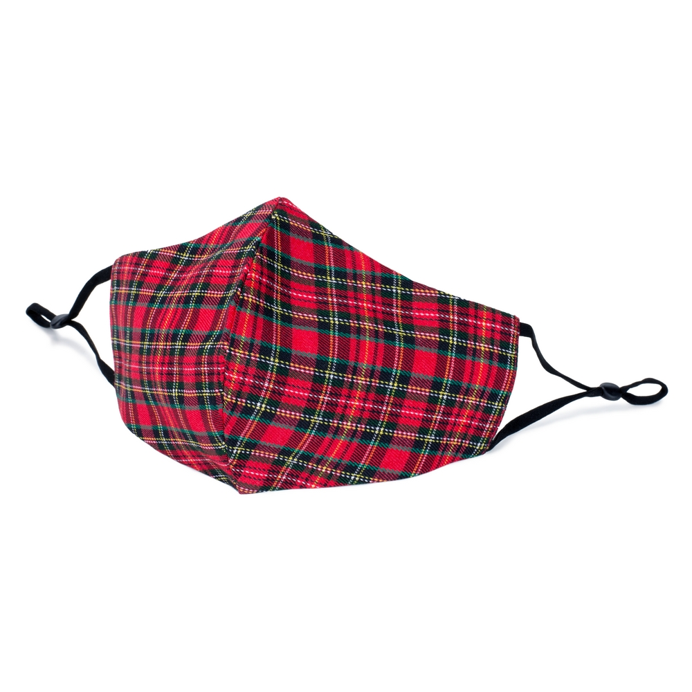 Face Mask Tartan Made With Cotton by JOE COOL