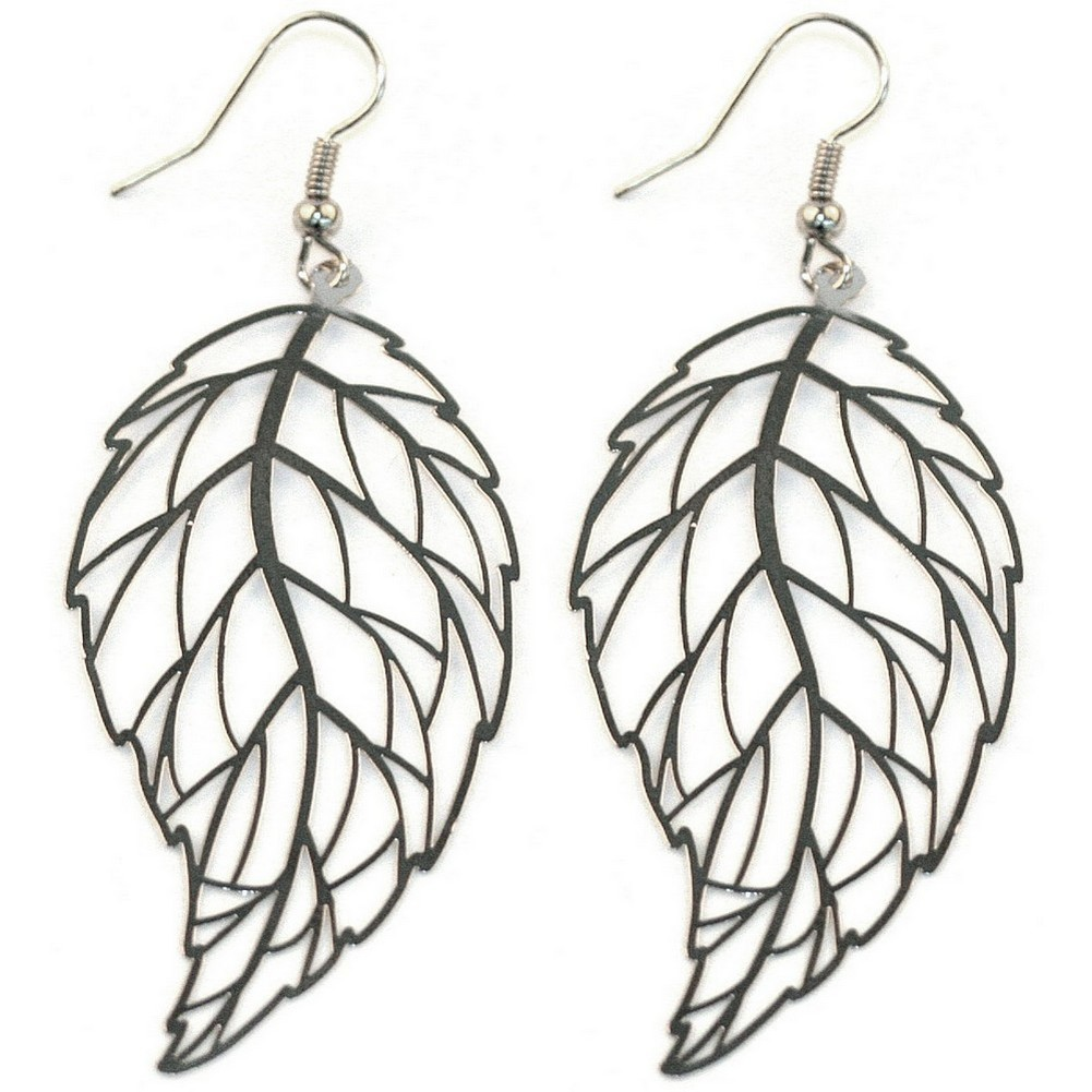 Drop Earring Leaf Made With Copper & Tin Plate by JOE COOL