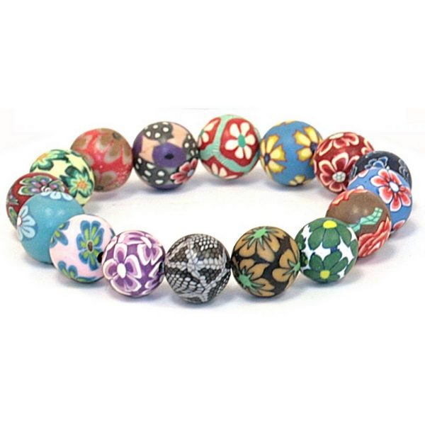 Bracelet Handmade Floral Beads Made With Resin by JOE COOL