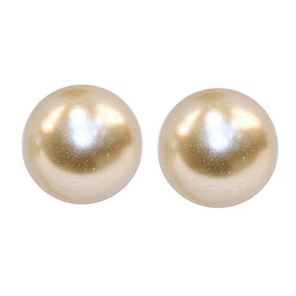 Stud Earring Perfect 4  6  8  10 &  12mm Made With Glass Pearl by JOE COOL