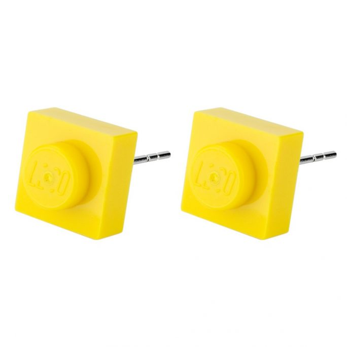 Stud Earring Single Plate Lego Made With Resin by JOE COOL