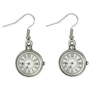 Drop Earring Clock Made With Tin Alloy by JOE COOL