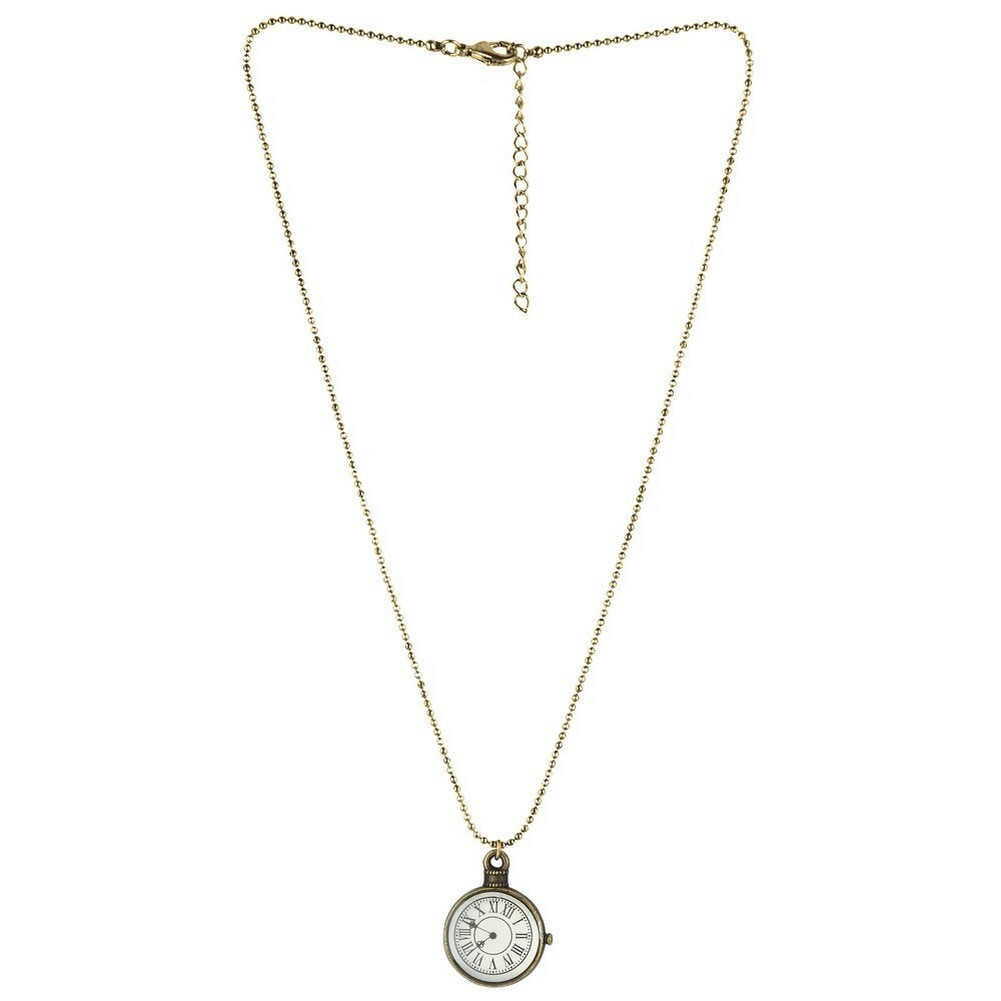 Necklace With A Pendant Clock Chain Made With Tin Alloy by JOE COOL