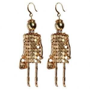 Drop Earring Go Girls Fashionista Made With Iron & Acrylic by JOE COOL