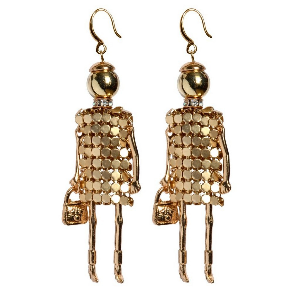 Drop Earring Go Girls Fashionista Made With Iron & Acrylic by JOE COOL