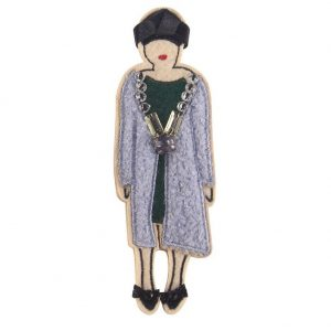 Brooch Vintage Lady Made With Cotton by JOE COOL