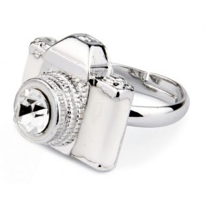 Ring Camera Made With Crystal Glass & Enamel by JOE COOL
