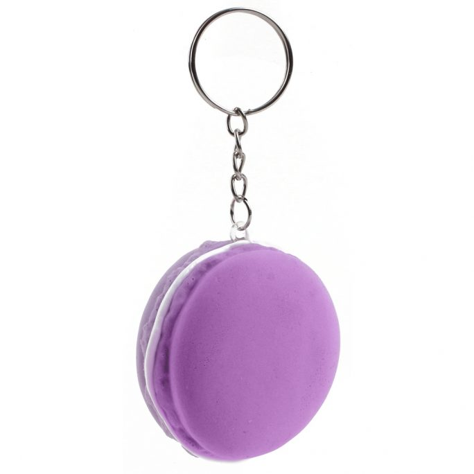 Keyring Stress Ball Macaron Made With Foam & Iron by JOE COOL