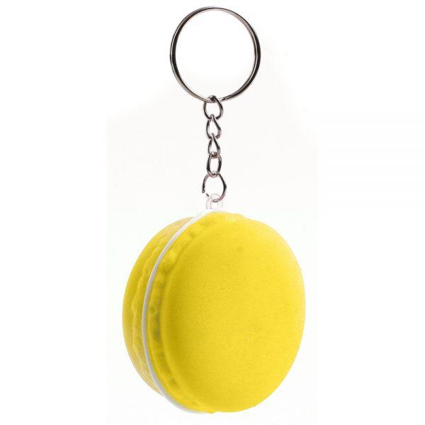 Keyring Stress Ball Macaron Made With Foam & Iron by JOE COOL