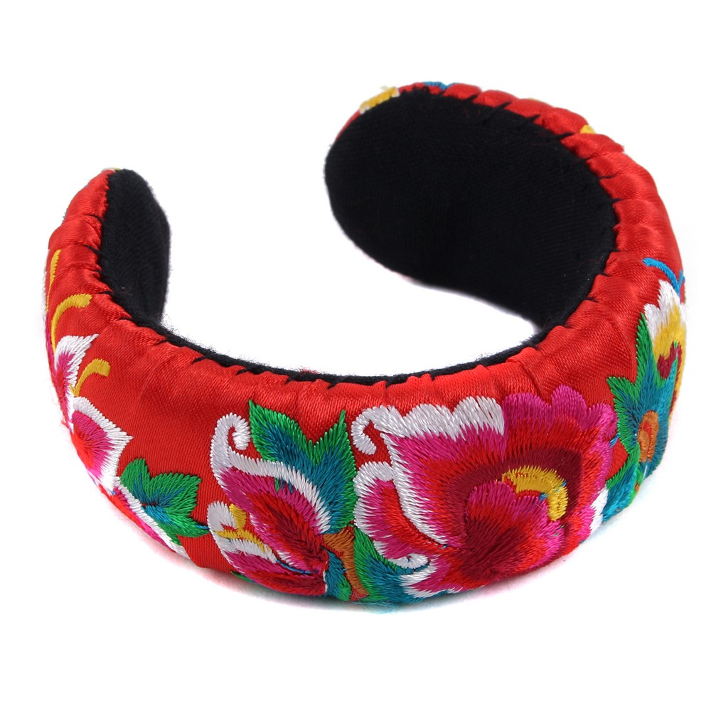 Bangle Embroidered Exotic Floral Made With Polyester by JOE COOL