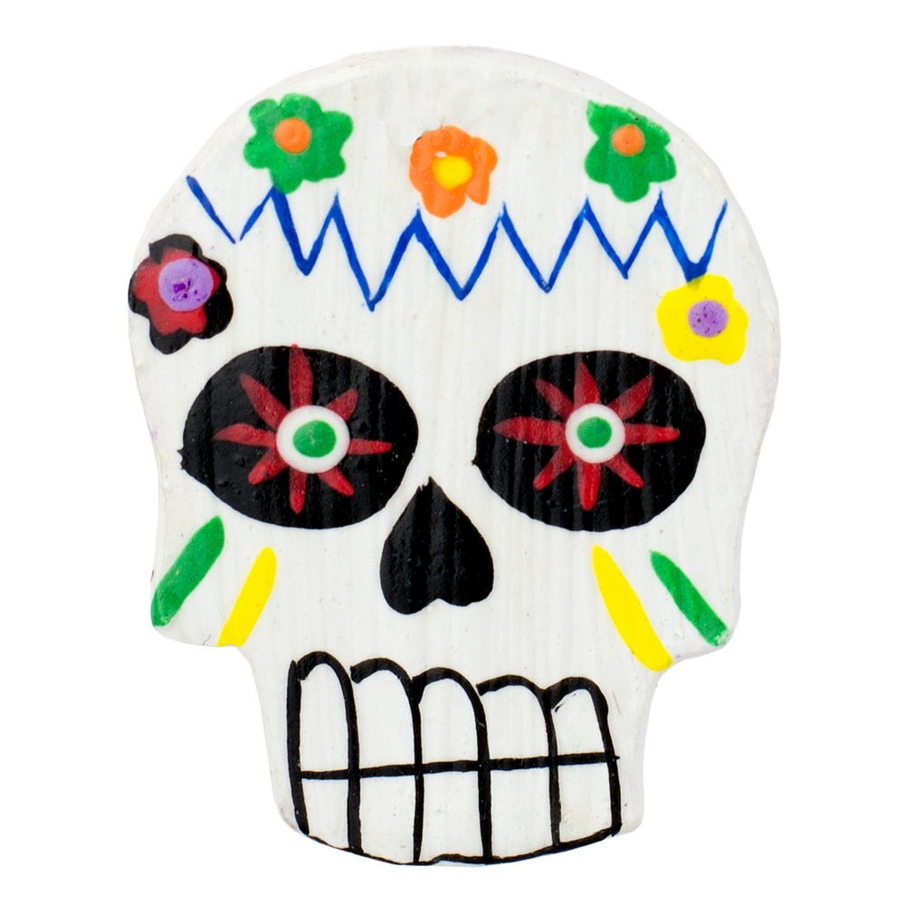 Clutch Pin Brooch Day Of The Dead Made With Wood by JOE COOL