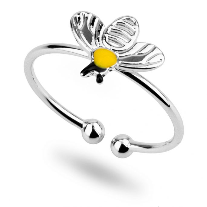 Ring Bee Made With Tin Alloy & Enamel by JOE COOL