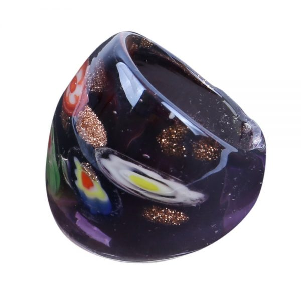 Ring Millefiori Made With Glass by JOE COOL