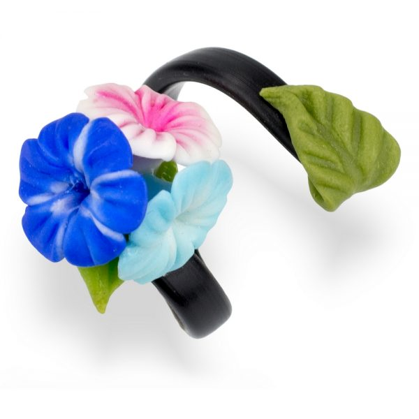 Ring Hibiscus Posy Made With Fimo by JOE COOL