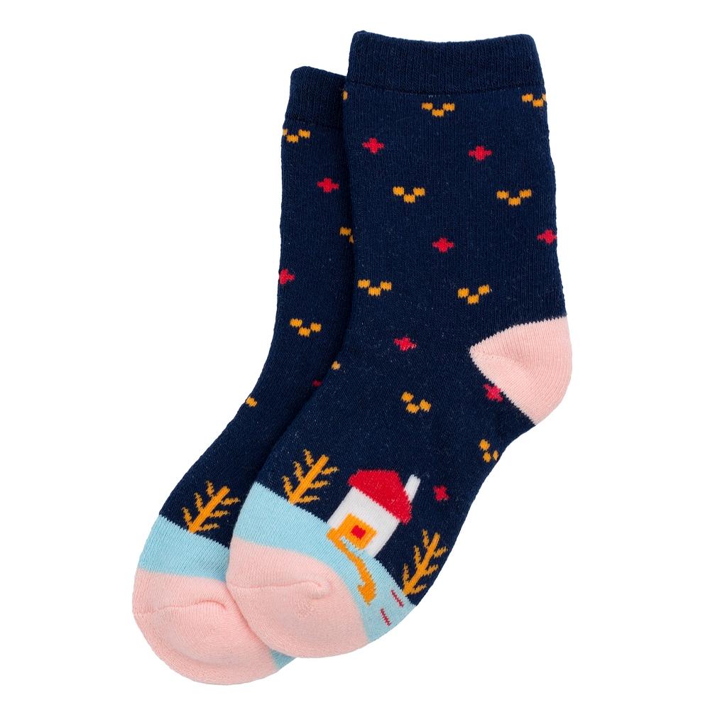 Socks Kids Winter Scene 6-8 Years Made With Cotton & Spandex by JOE COOL