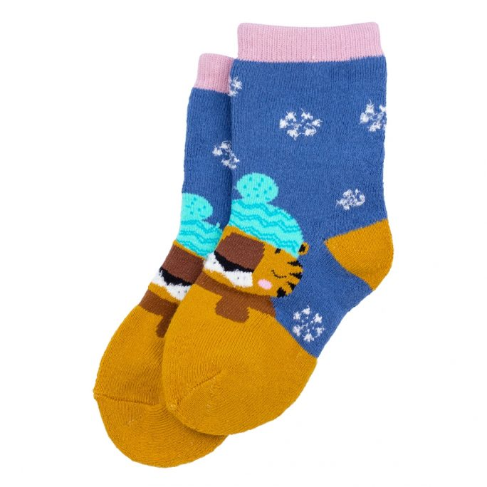 Socks Kids Winter Animals 3-5 Years Made With Cotton & Spandex by JOE COOL