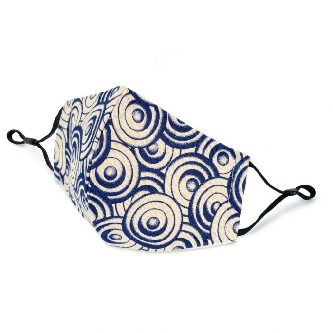 Face Mask Indigo Japanese Disc Made With Cotton by JOE COOL