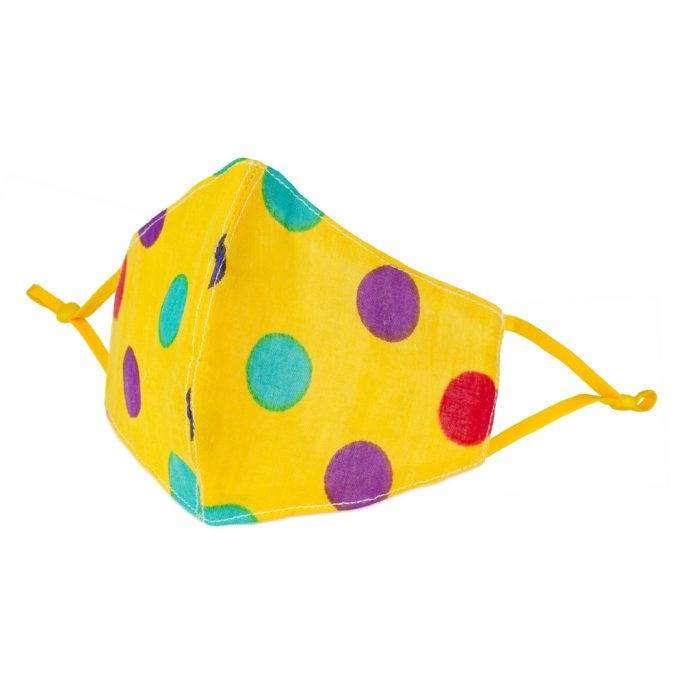 Face Mask Bright Polka Print Made With Cotton by JOE COOL