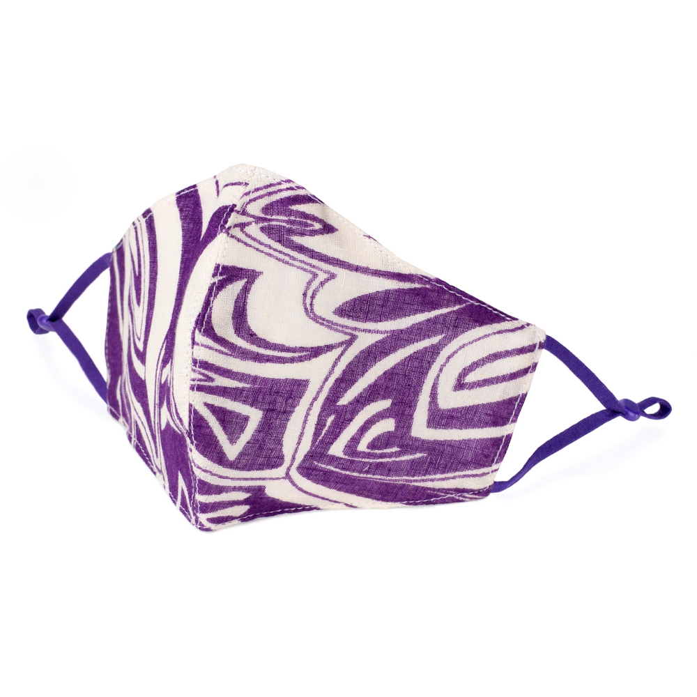 Face Mask Freeestyle Leaf Made With Cotton by JOE COOL